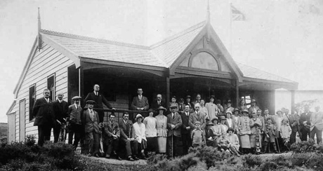 The opening of the new clubhouse, July 18 1923